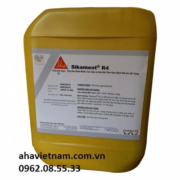 Sikament R4 phụ gia giảm nước cao cấp cho bê tông
